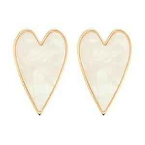 BaubleBar Heart - shape resin stud Earrings